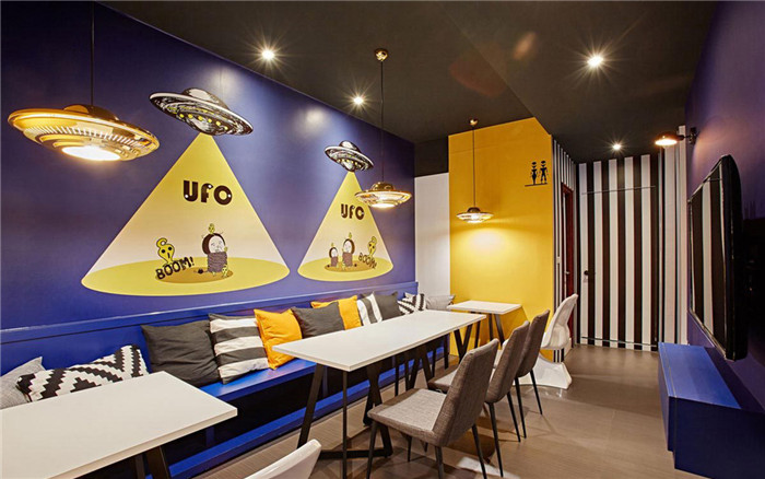 ufo特色创意主题餐厅设计图
