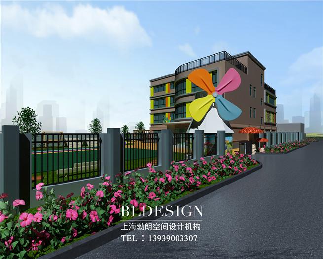 郑州茉莉宝贝高端幼儿园外观设计方案效果图图片