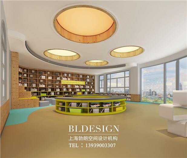 郑州茉莉宝贝高端幼儿园图书室设计方案效果图