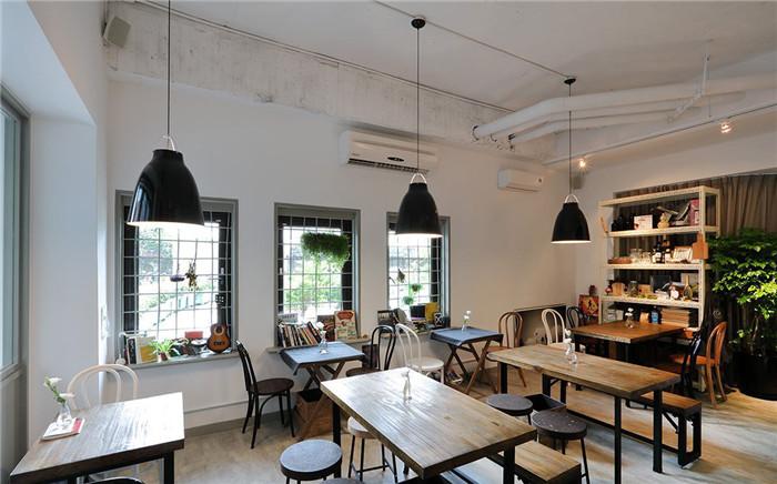 清新工业风格咖啡馆室内设计方案