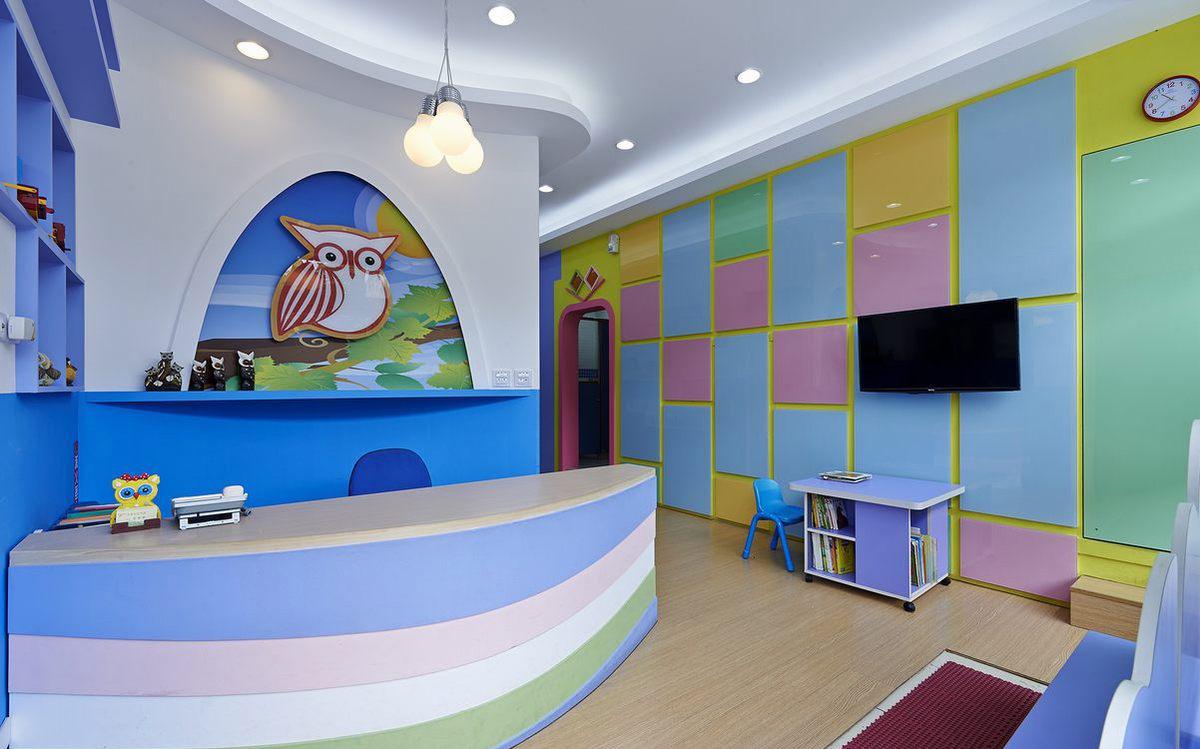 幼儿培训机构接待厅设计方案图