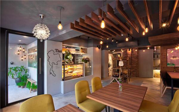 轻工业风餐饮空间设计 泰式料理餐厅设计案例图片
