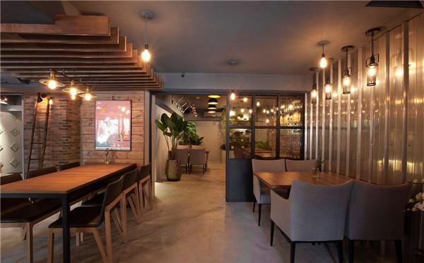 轻工业风主题餐厅设计效果图
