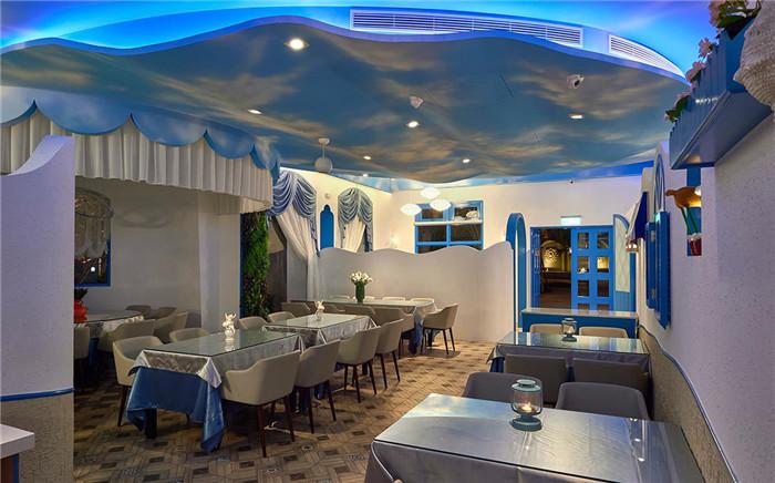 地中海海洋主题餐厅设计 蓝舍主题餐厅设计案例
