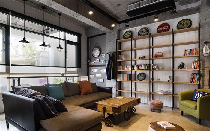 海归夫妇的另类豪宅设计 原味loft工业风豪宅装修设计