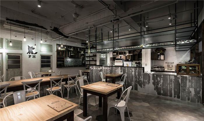 赏心悦目的复古工业风主题餐厅装修设计案例