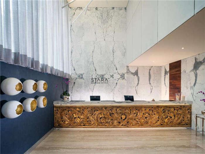 酒店大堂接待空间设计实景图