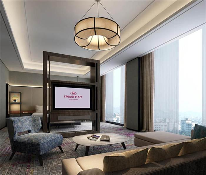 酒店高级客房空间布局设计实景图