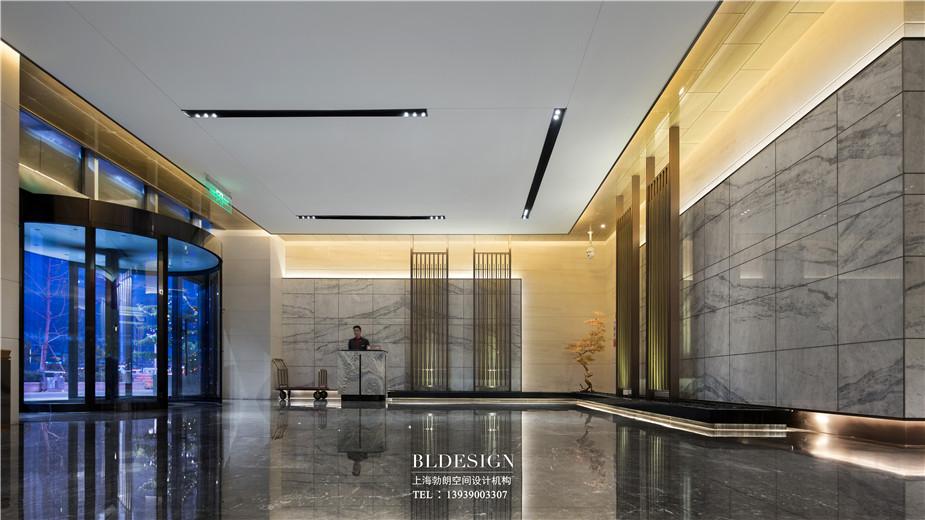 郑州铭汇文华酒店大堂入口装修设计实景图