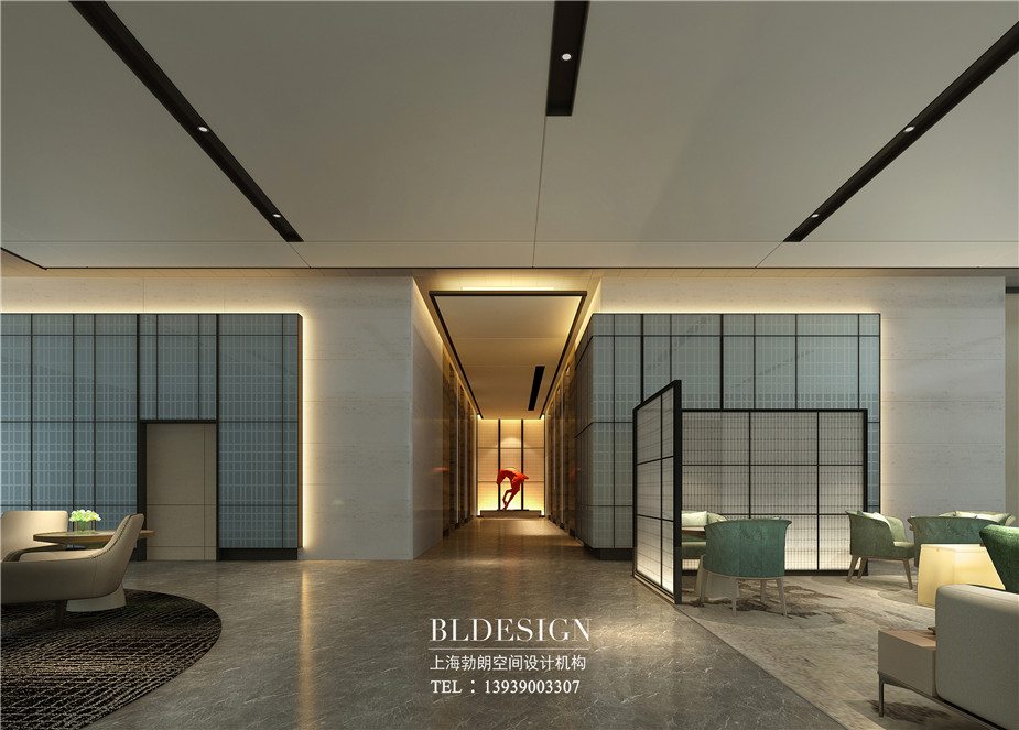 郑州铭汇文华酒店电梯厅设计效果图