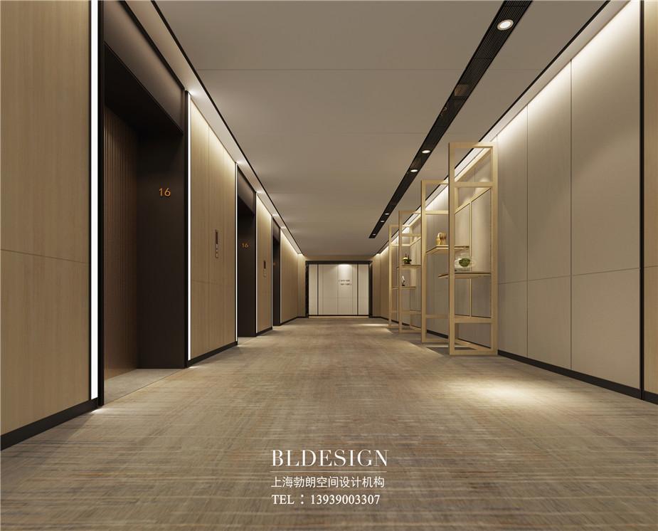 郑州铭汇文华酒店客房走廊设计效果图