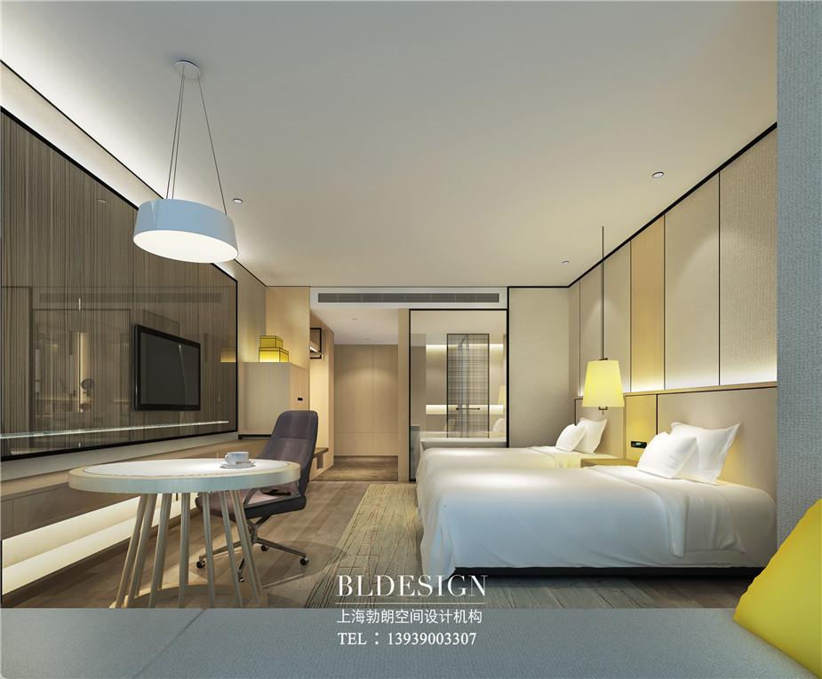 郑州铭汇文华酒店标准客房设计效果图