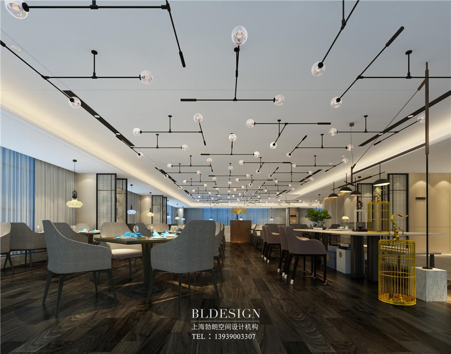 郑州铭汇文华酒店餐厅设计效果图